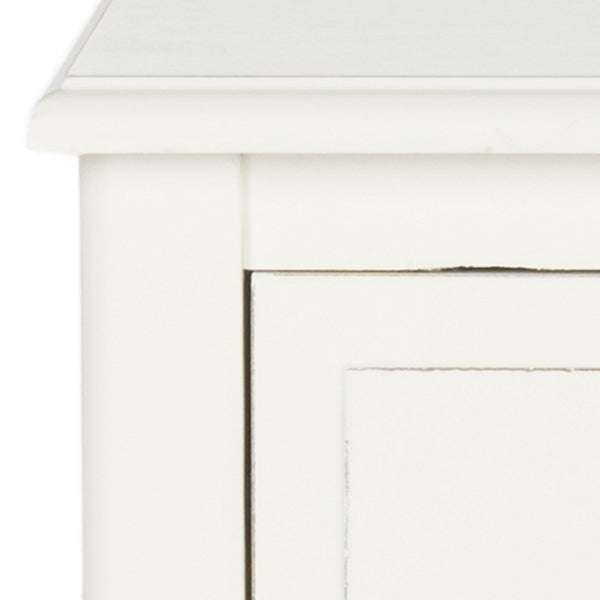 safavieh everly drawer distressed white side table free shipping today