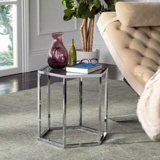 Safavieh Teagan Glass Chrome End Table
