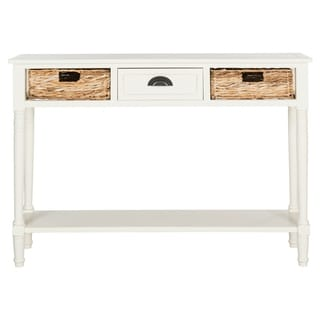 Safavieh Christa Distressed White Console Table