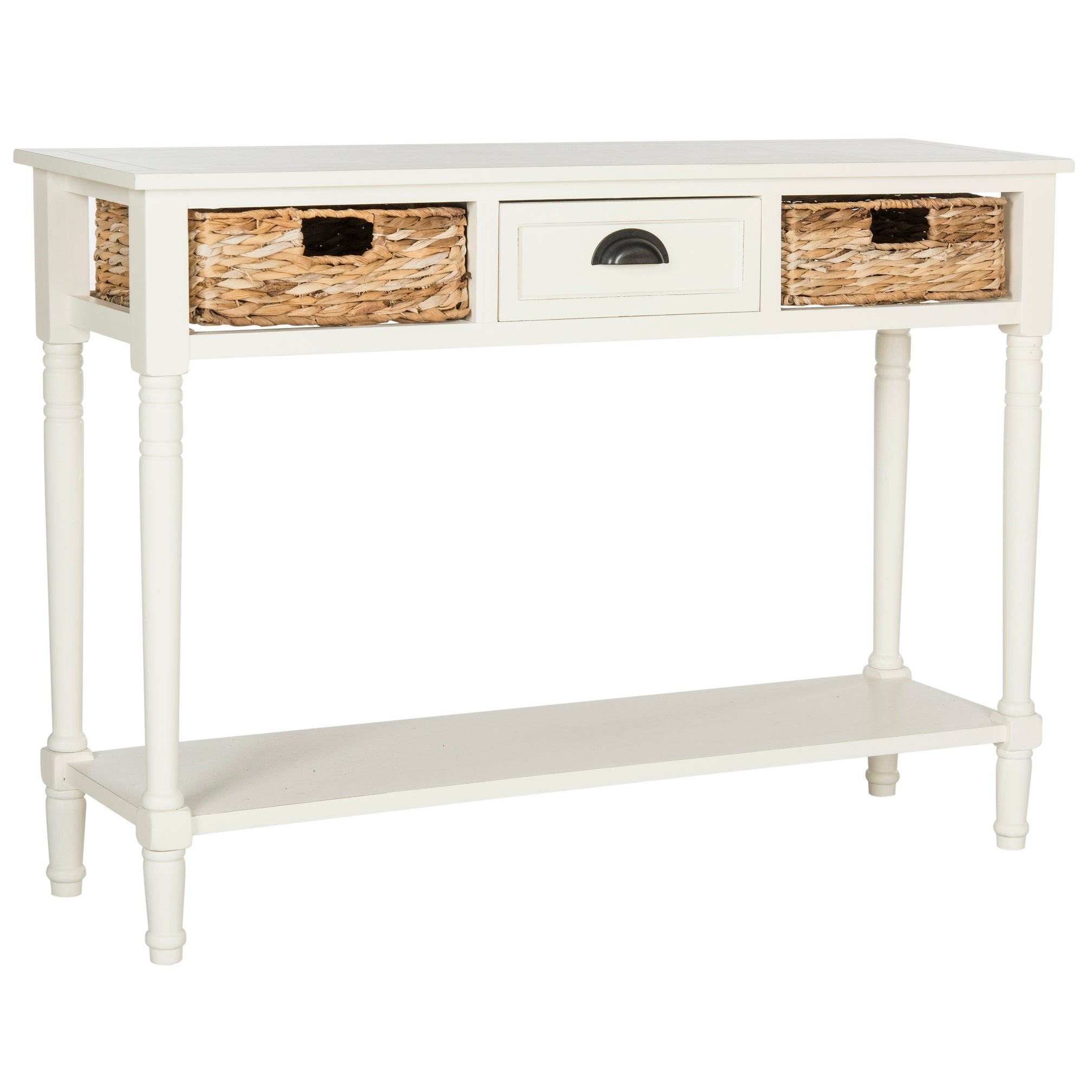 Safavieh Christa Distressed White Console Table 44 5 X 13 4 X 31 5