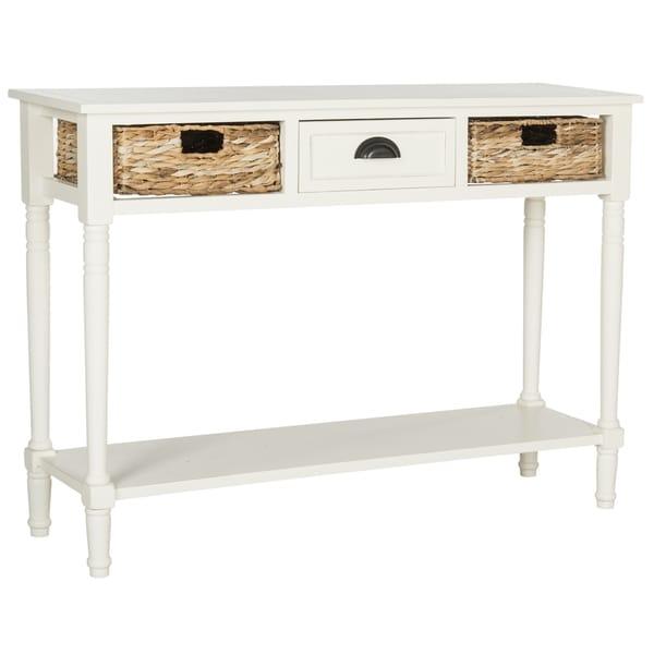 Safavieh Christa Distressed White Console Table