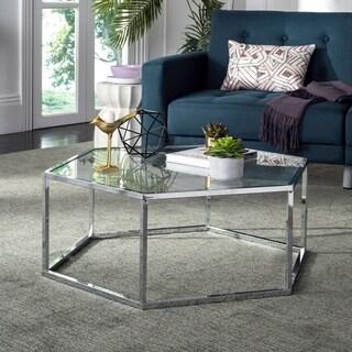Safavieh Eliana Glass Chrome Coffee Table