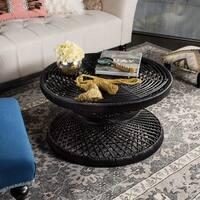 Safavieh Grimson Large Bowed Black Coffee Table