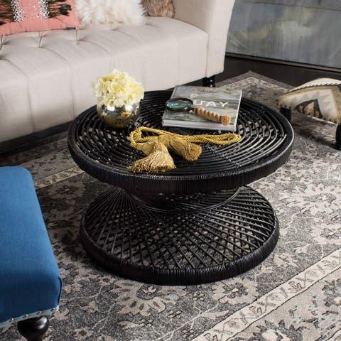 "Safavieh Grimson Large Bowed Black Coffee Table - 31.5"" x 31.5"" x 15.7"""