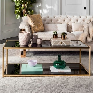 Safavieh Zola Glass Gold Coffee Table