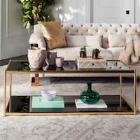 Safavieh Zola Glass Gold Coffee Table