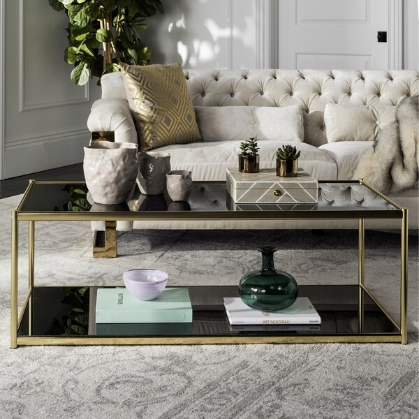 Shop Safavieh Zola Glass Gold Coffee Table