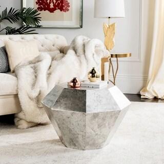"Safavieh Grace Diamond Antique Silver Accent Table - 25"" x 25"" x 18"""