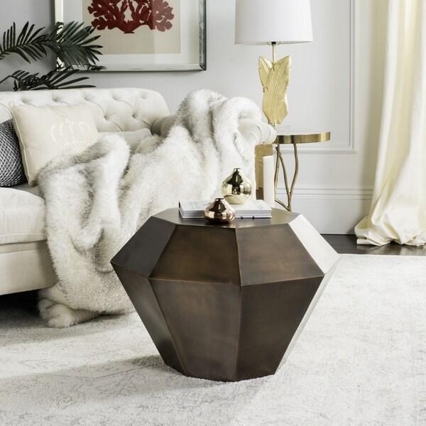 Safavieh Grace Diamond Antique Copper Accent Table