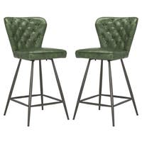 Safavieh Ashby 37-inch Green Counter Stool (Set of 2)