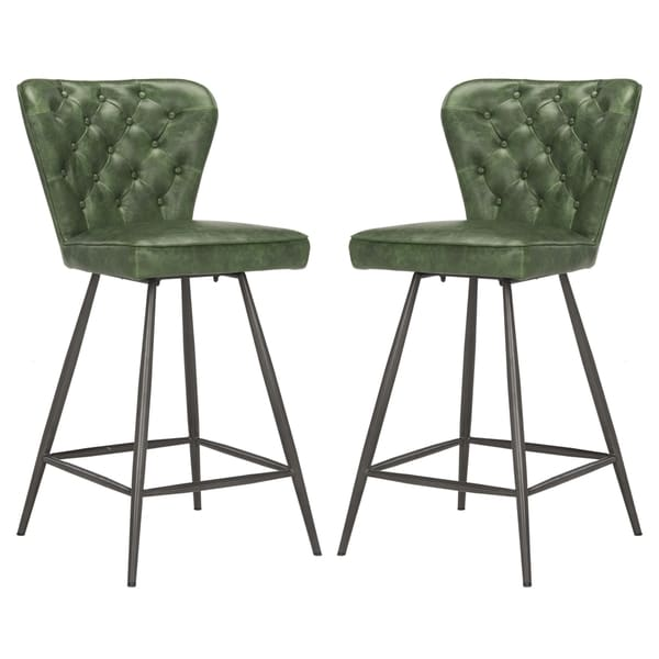 Safavieh Ashby 37 Inch Green Counter Stool