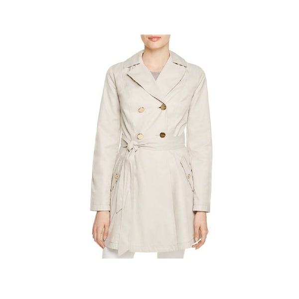 Laundry by Shelli Segal Beige Fit and Flare Trench Coat