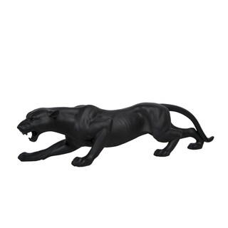 Interior Illusions Matte Black Panther 20-inch Long Sculpture