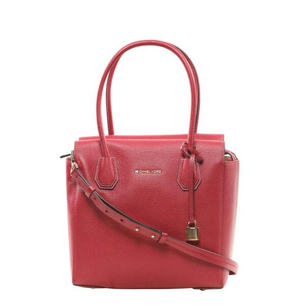 Michael Kors Mercer Medium Cherry Convertible Satchel Handbag ...