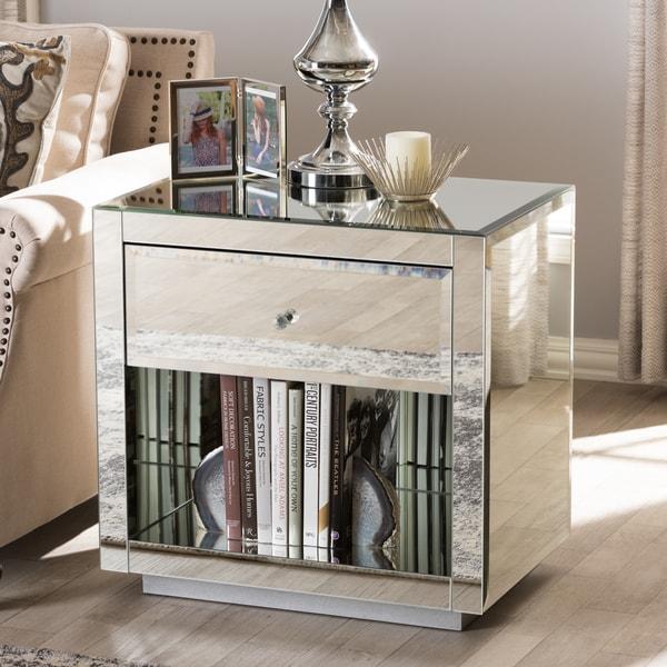 Mirrored nightstand overstock