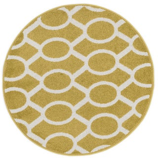 Link to Alexander Home Palm Geometric Link Rug Similar Items in Rugs
