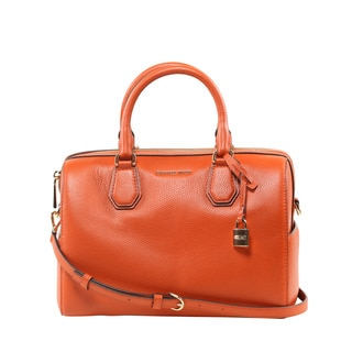 Michael Kors Mercer Medium Orange Duffle Handbag