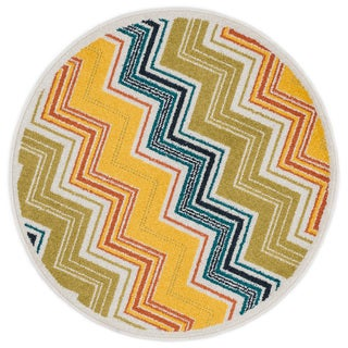 Link to Alexander Home Chevron Palm Rug Similar Items in Rugs