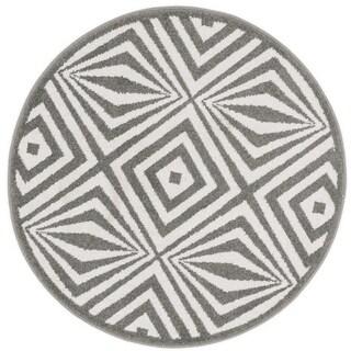 Palm Diamond Geometric Rug (3' x 3' Round)
