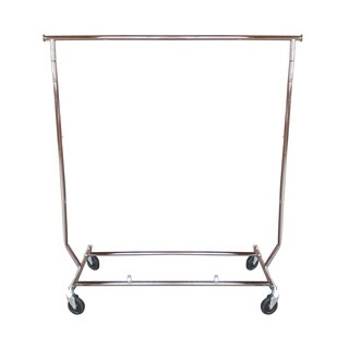 Collapsible Portable Rolling Garment Rack