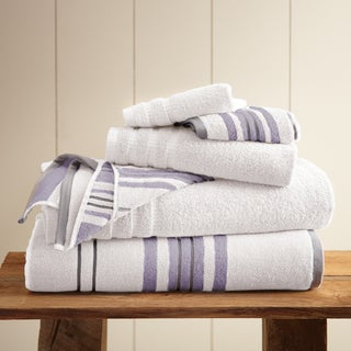 6-Piece Yarn Dyed Racer Stripe Towel Set
