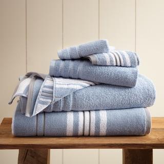 6-Piece Yarn Dyed Racer Stripe Towel Set
