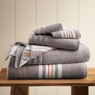 Amrapur Overseas 6-Piece Yarn Dyed Racer Stripe Towel Set