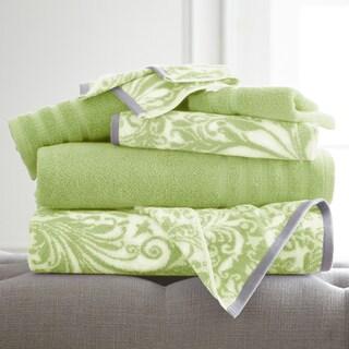 6-Piece Yarn Dyed Filigree Towel Set
