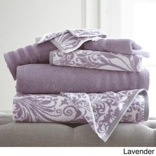 Amraupur Overseas 6-Piece Yarn Dyed Filigree Towel Set