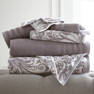 6-Piece Yarn Dyed Filigree Towel Set