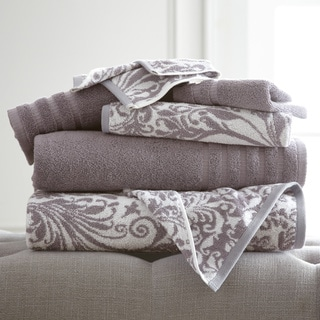 Amraupur Overseas 6-Piece Yarn Dyed Filigree Towel Set