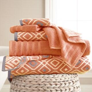 6-Piece Yarn Dyed Oxford Towel Set