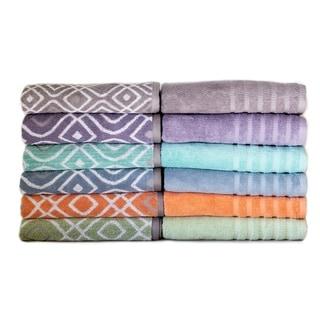 Amraupur Overseas 6-Piece Yarn Dyed Oxford Towel Set