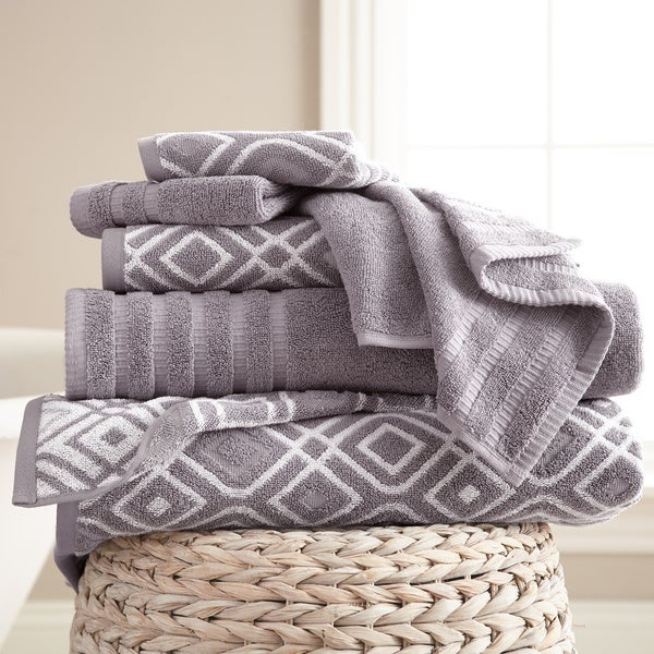 Amraupur Overseas 6-Piece Yarn Dyed Oxford Towel Set