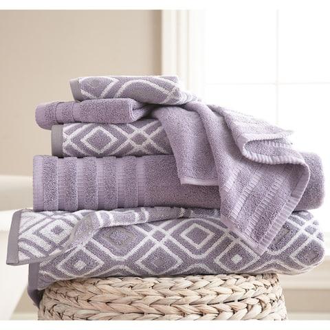 Modern Threads 6-Piece Yarn Dyed Oxford Towel Set