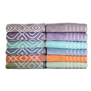 6-Piece Yarn Dyed Oxford Towel Set
