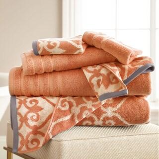 6-Piece Yarn Dyed Lattice Towel Set