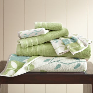 6-Piece Yarn Dyed Organic Vines Towel Set