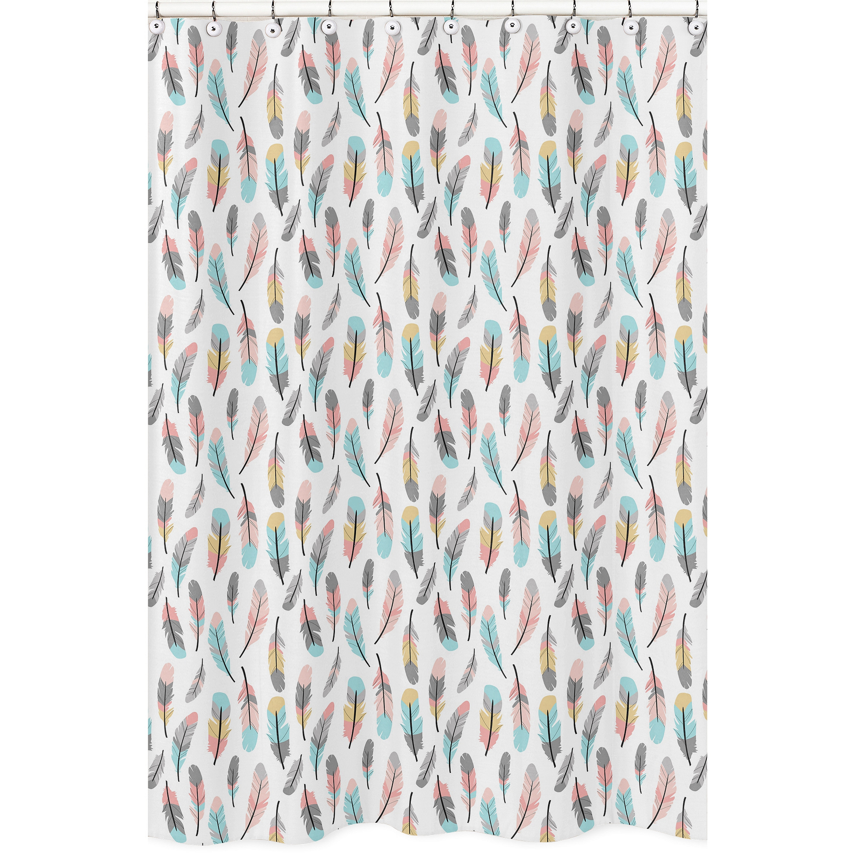 Shower Curtain for the Feather Collection by Sweet Jojo D...