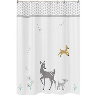 Sweet Jojo Designs Forest Deer Collection Shower Curtain