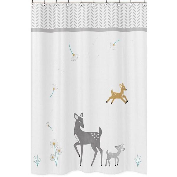 Sweet Jojo Designs Forest Deer Collection Shower Curtain