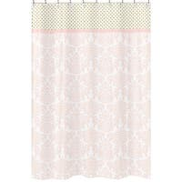 Sweet Jojo Designs Amelia Collection Cotton Shower Curtain
