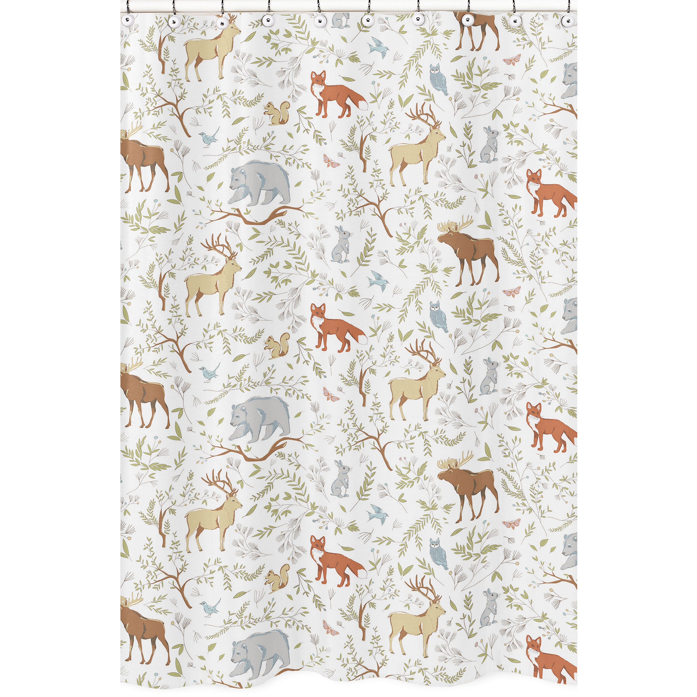 Shower Curtain for the Woodland Toile Collection by Sweet...