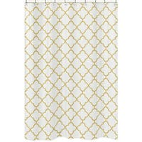 Shower Curtain for the White and Gold Trellis Collection by Sweet Jojo Designs