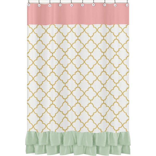 Shower Curtain for the Ava Collection by Sweet Jojo Designs
