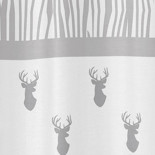 Sweet Jojo Designs Grey and White Stag Collection Shower Curtain