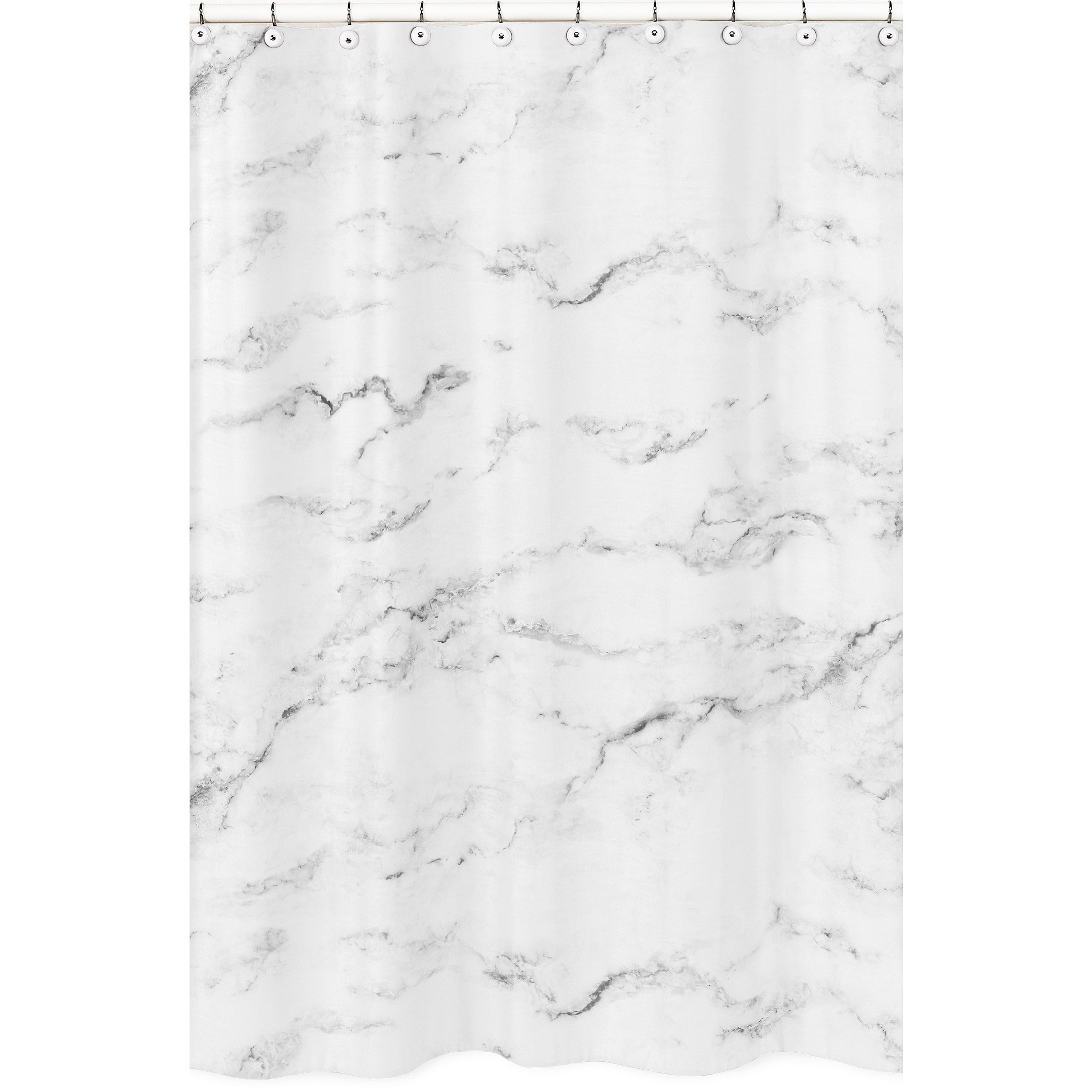 JoJo Designs Shower Curtain for the Black and White Marbl...