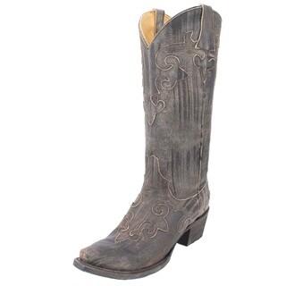 Lane Women's Dawson Brown Leather Cowboy Boot