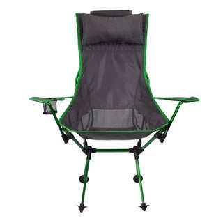 Koala Folding Aluminum Chair (Green/Dark Grey)