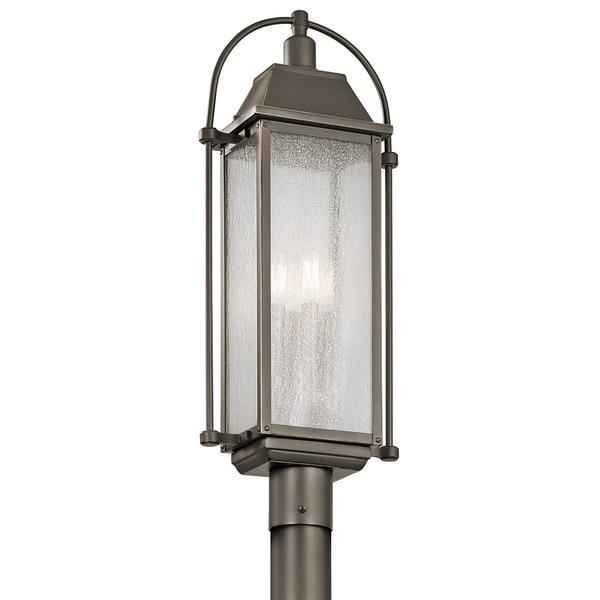 Kichler Lighting Harbor Row Collection 4-light Olde Bronze Outdoor Post Mount